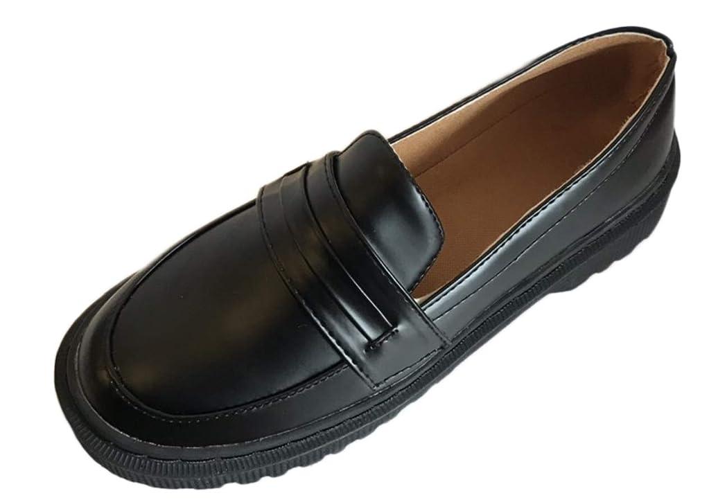 フラグラント統計伝染病[ライオンガーデン] ローファー 歩きやすい 靴 学生 リクルート 学生靴 通学 制服 就活 フラット レディース