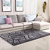 qazxsw Streifen Schlafzimmer Nachttischmatten Verdickte helle Seidenteppiche Wohnzimmer Rutschfester Teppich Fusselfreier moderner Stil