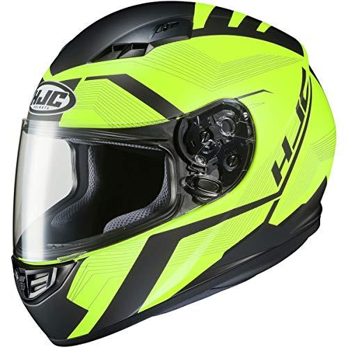HJC Helmets CS-R3 Helmet - Faren (Large) (Black/HI-VIZ)
