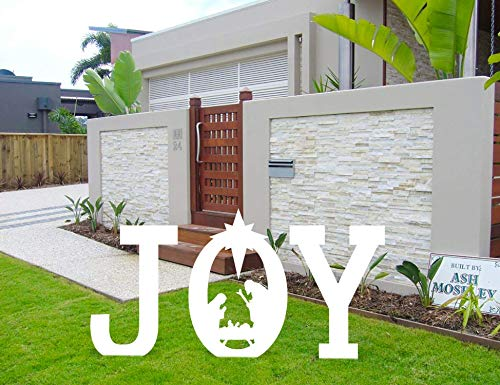 luck sea Christmas Joy Nativity Yard Sign Lawn Outdoor Decorations (Assembly Needed)