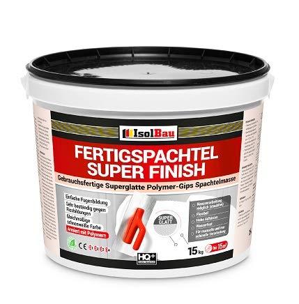 Spachtel Masse 15 kg Fertigspachtel Super Finish Q4 Gips Glätt Flächen Füll