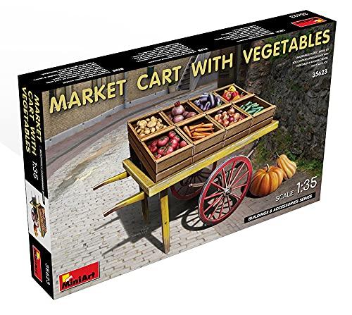 ミニアート 1/35 市場のカートと野菜セット プラモデル MA35623