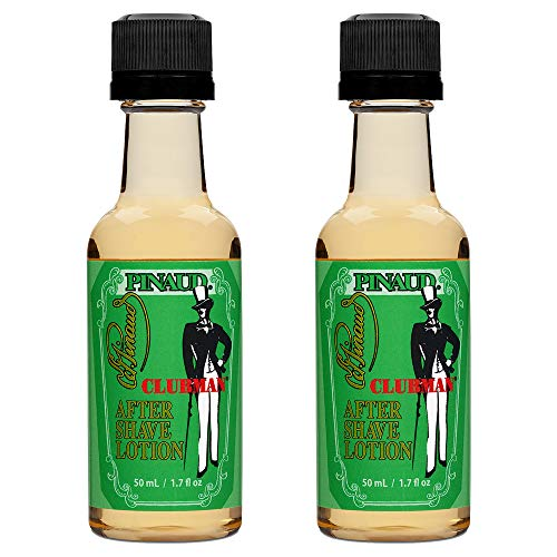 Clubman Pinaud After Shave Lotion, Soothes Skin After Shaving With Masculine Fragrance 1.7 fl. Oz x 2 packs