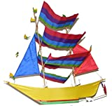 One World is Enough Gran cometa tradicional hecha a mano de vela/barco pirata - Comercio justo