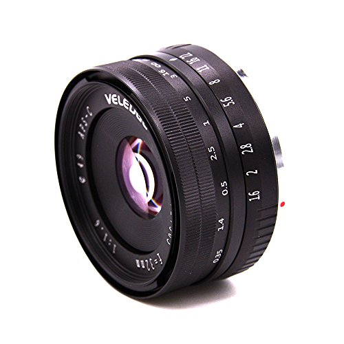 SSSabsir VELEDGE 32MM F1.6 Large Aperture Manual Prime Fixed Lens APS-C for Sony E-Mount Digital Mirrorless Cameras NEX 3 NEX 3N NEX 5 NEX 5T NEX 5R NEX 6 7 A5000, A5100, A6000, A6100,A6300 A6500