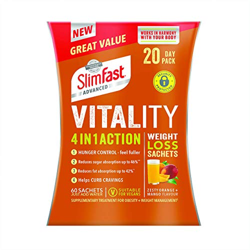 SlimFast Advanced Vitality 4-in-1 Action Weight Loss Sachets (20 Day Pack)