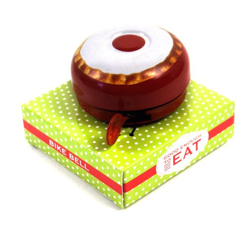 Half Moon Bay Bicycle Bell - Good Enough to Eat - Cherry Bakewell Design