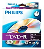 New 10 pk Philips Mini DVD-R Blank 4X 1.4 GB Recordable DVD Disk for Digital Camcorder