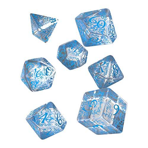 Set Dadi Elfici - Trasparente, Blu
