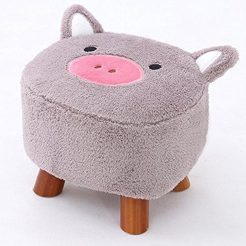 Sunkini Netter Tier-Schemel-Schwein-Osmanen-waschbarer Kleiner Wohnzimmer-Stuhl-Kindermöbel-Haushaltswaren-kleines Bank-Sofa