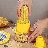JZENZERO Corn Sheller Manual Corn Thresher Multifunctonal Corn Peeler Safe Corn Stripper Kitchen Gadget Cooking Tools