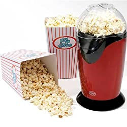 If you fancy a fun, tasty treat, this popcorn maker is ideal; simply add the kernels and wait 3 minutes for the popcorn, then enjoy. It has non-slip feet for safe operation, and a spout so the popcorn is easily released into a bowl placed underneath ...