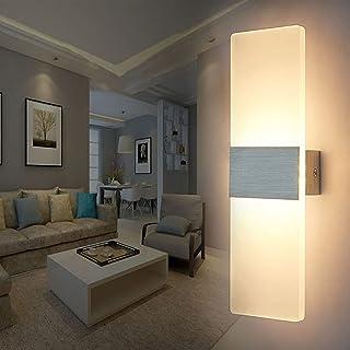 Applique Murale LED Intérieur, 12W Lampe Murale en Aluminium et Acrylique Design, Moderne Decoration Eclairage LED Luminai...