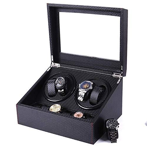 JHSHENGSHI Enrollador de Reloj automático con Motor silencioso Mabuchi Relojes con Adaptador...