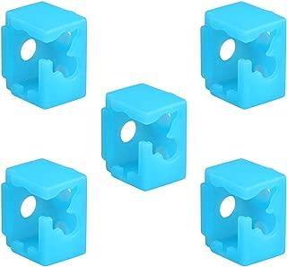 Befenybay 5PCS Blue 3D Printer Parts XCR NV6 E3D V6 Heated Block Silicone Sock, High-Temperature Protective Cover Case (E3D)