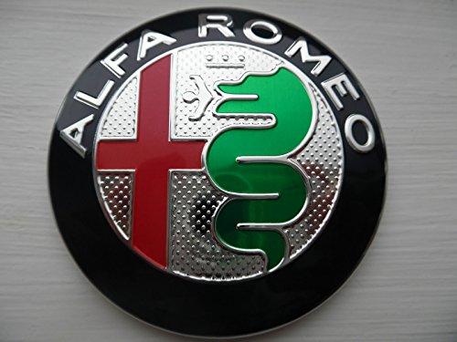 1 STEMMA LOGO ALFA ROMEO GIULIETTA MITO 159 GT 147 ANTERIORE O POSTERIORE 74mm fregio NUOVA VERSIONE 2016 ALFA GIULIA