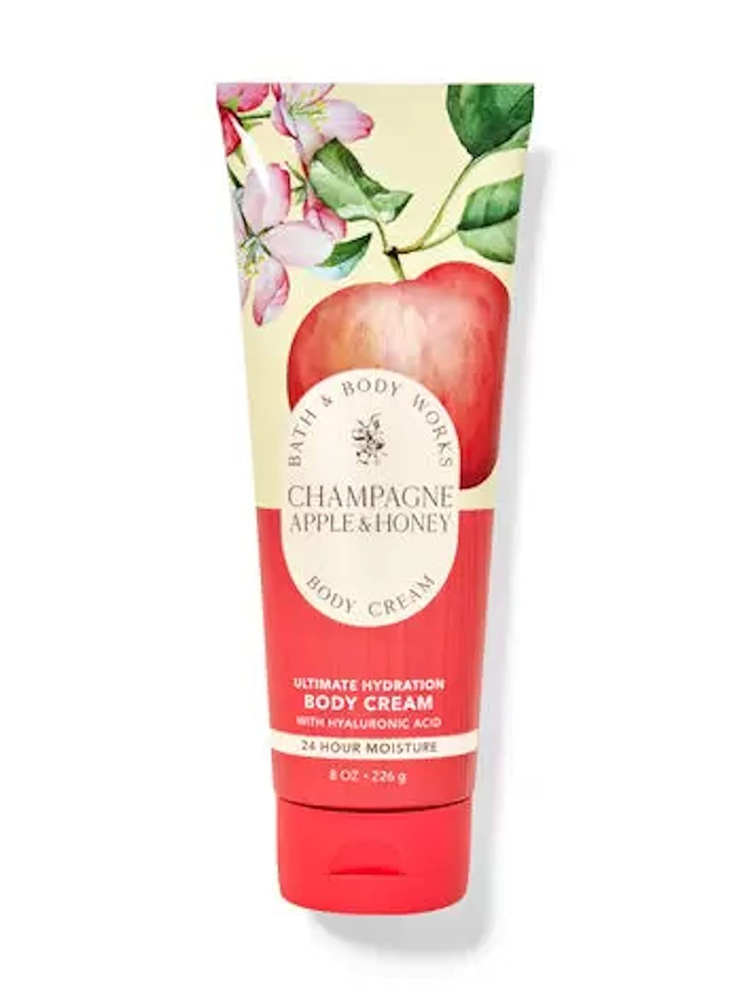 Bath & Body Works Champagne Apple & Honey Signature Collection Ultra Shea Body Cream 8 Ounce (Champagne Apple & Honey)
