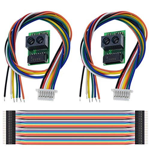DAOKI 2Pack Distance Sensor Module GP2Y0E03 Infrared Ranging Sensor 4-50CM I2C Output for Arduino with M-M Dupont Cable 20PIN