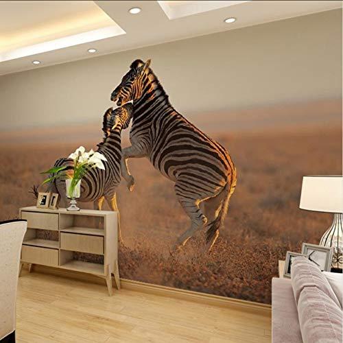 Pbbzl Home Decor Wall Papers 3D woonkamer slaapkamer slaapkamer kinderkamer natuur zebra fotobehang silk 200 x 140 cm