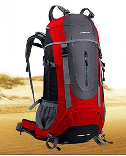 Sacs de voyage sac d'alpinisme extérieure grand voyage de randonnée sac à dos 60 l , red 60 litres