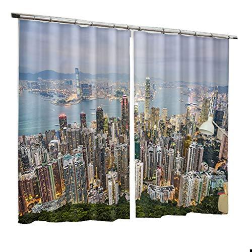 ZZHL Rideaux, Isolant Thermique Blackout S Crochet Piste Oeillet Assombrissement Salon Chambre 2 Panneaux Rideaux Intérieurs (Taille : 1.5x2.7m)