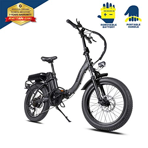 Mukkpet YAMEE LF-750 20inch 48V 750W Folding Electric Bicycle 4.0 Fat Tire 13AH Removable...