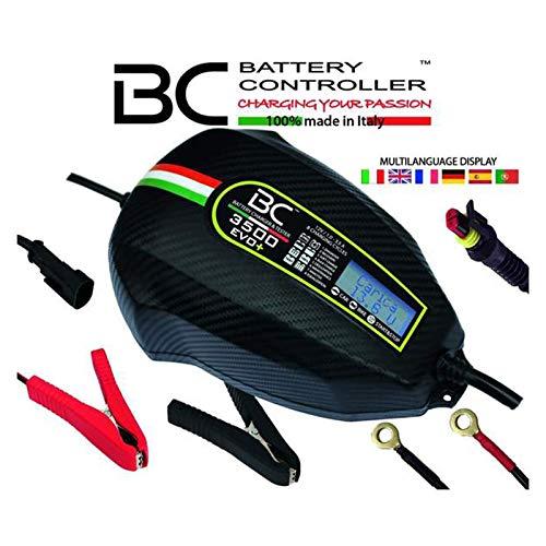 BC Battery Controller BC 3500 EVO+, Cargador de baterías y Mantenedor Digital/LCD, Comprobador de Batería y Alternador para todas las Baterías de Coche y Moto 12V de Plomo-Ácido, 3.5A/1A