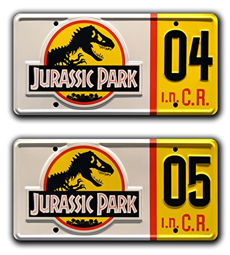 Jurassic Park | Explorer #04 + #05 | Metal Stamped License Plates
