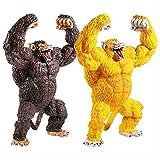 2 Piezas Dragon Ball GT Saiyan Golden Big Monkey Son Goku Ohzaru Vegeta PVC Figura De Colección Mode...