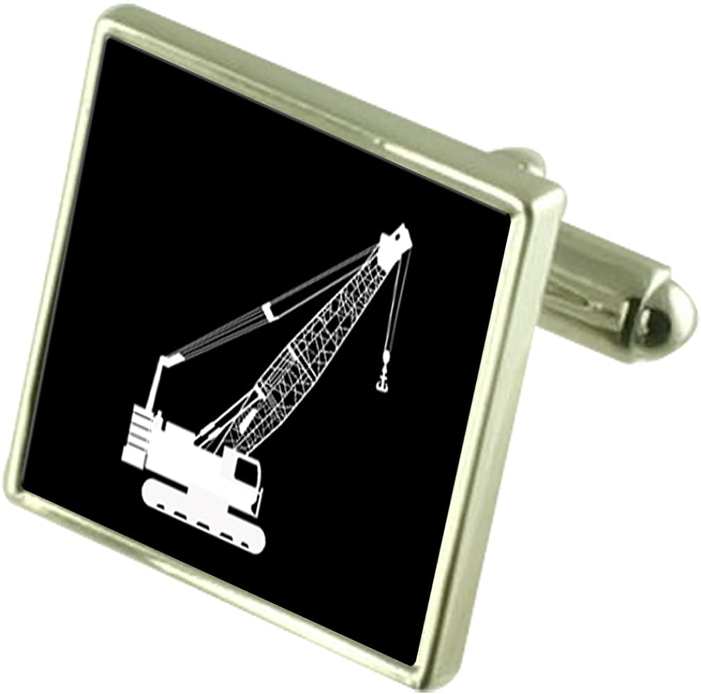 Select Gifts Builder Crane Lift Genuine Free Shipping Sterling Cufflinks Option Silver Challenge the lowest price of Japan ☆