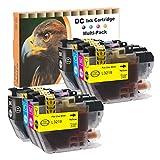 D&C - 8 cartucce di inchiostro XXL compatibili con Brother LC-3219BK LC-3219C LC-3219M LC-3219Y per Brother MFC-J5330DW MFC-J5335DW MFC-J5730DW MFC-J5930DW MFC-J6530DW MFC-J6930DW MFC-J6935DW