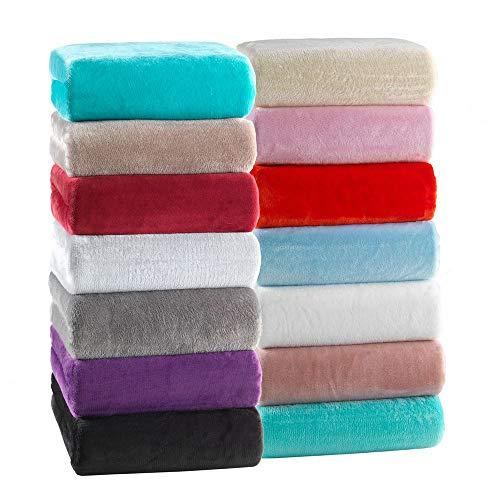 MALIKA® Premium warme Spannbettlaken kuschelige Cashmere-Touch Bettlaken Jersey Fleece Spannbetttuch Bett Flauschiges Laken, Farbe:GRAU, Größe:180-200 x 200 cm