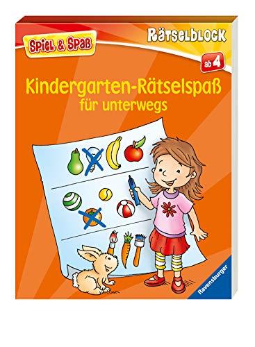Kindergarten-Rätselspaß für unterwegs (Spiel & Spaß - Rätselblock)