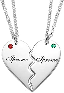 breakable heart necklace engraved
