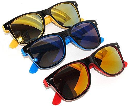 3 Pairs Stylish Retro 80s Sunglasses