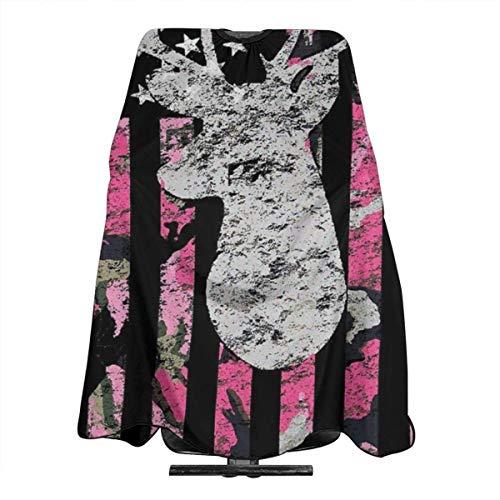 Haarschnitt Cape Pink Camouflage Flag Deer Jagd Haarschneiden Abdeckung Salon...