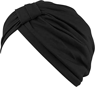 Chemo Turbans for Women Pre Tied Cotton Vintage Cover Twist Pleasted Hair Caps