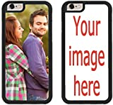 iZERCASE Custom iPhone 7 Cases iPhone Cover [Personalized Custom Picture CASE] Make Your Own Phone Case (Black, iPhone 7)