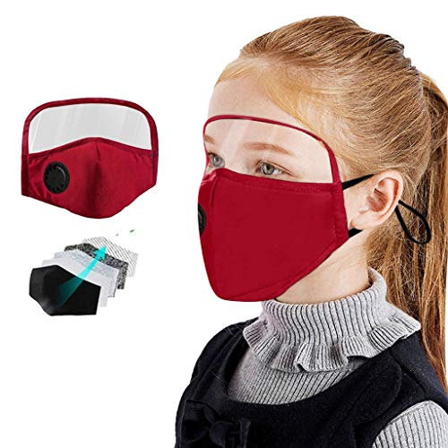 Great Features Of Baby Face Bandanas with Breathing Valve + Activated Carbon Filter Replaceable, Kid...