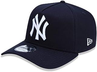 BONE 9FORTY A-FRAME ABA CURVA AJUSTAVEL MLB NEW YORK YANKEES BASIC SNAPBACK MARINHO NEW ERA