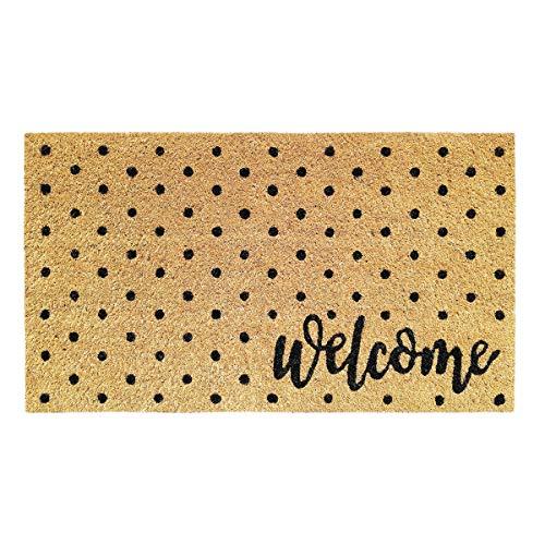 Banzaii Zerbino in Cocco 40 x 70 cm con Retro in PVC Antiscivolo – Welcome