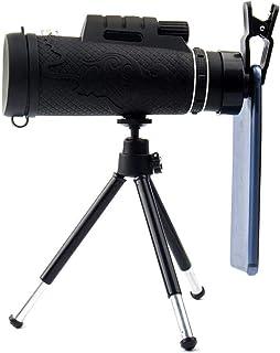 50x60 High Power Monocular with Smartphone Holder HD BAK4 Prism Night Vision Monocular Telescope with Telescopic Tripod fo...