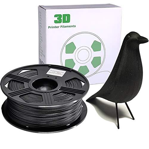 YOYI Carbon Fiber PLA filament 1.75mm 0.8kg 3D Printer Filament, Dimensional Accuracy +/- 0.03 mm, Reach Certificate, Eco-Friendly(Carbon Fiber Black)