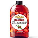 4oz Rosehip Oil by Artizen (100% Pure & Natural) - Cold Pressed & Harvested from Fresh Roses Bushes & Rose Seed - Rose Hip Oil is Perfect for Your Skin, Face, Nails, Hands