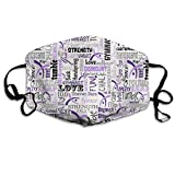 Gymnastics Words Purple Mouth Mask Dust Face Mask Washed Reusable Outdoor Activities Windproof