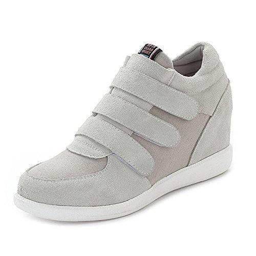 Jamron Mujer Moda Tacón de Cuña Oculto Zapatillas Zapatos del Elevador Cómoda...