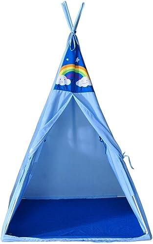 CC-tent Tente de Prougeection de l'environnement en Coton Polyester pour Enfants, Tente (Couleur  Bleu)