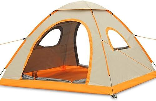 Ploekgda Camping en Plein air pour 4 Personnes ou 3 Personnes Tente imperméable à l'eau (Couleur   or)