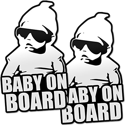 Daft Baby ~ Baby on Board Sticker Hangover Decal Funny (2 Stickers)