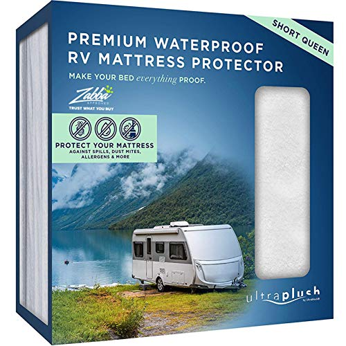 UltraPlush Premium Waterproof Mattress Protector, Luxurious, Soft & Comfortable, Protects Against Dust Mites and Allergens, Motorhome, Camper and Travel Trailer Mattresses (RV Short Queen 60